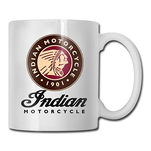 - Elason77 Indian Motorcycle Logo Funny Gifts Coffee Mug with Coffee/Tea/Cocoa Mug-Unique Coffee Cup&Present Idea for Male/Female/Bosses/Coworkers