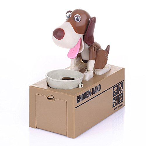 Just us®Choken Bako Robotic Dog Bank Doggy Coin Bank Canine Money Box (Puppy Coin Bank)