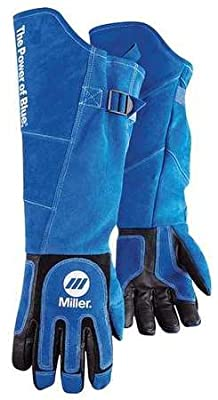 "Miller 263342 Arc Armor Heavy Duty MIG/Stick Welding Glove 21"" Long Cuff, X-Large"