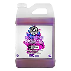 The product specialists at Chemical Guys wanted to recreate the bright shine of a brand new car sitting in the showroom, so they came up with extreme body wash & wax car wash soap with color brightening technology. The slick car wash soap...