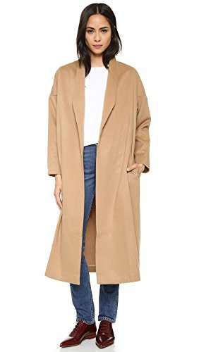 AYR Women's The Robe Coat, Camel, Tan, M/L