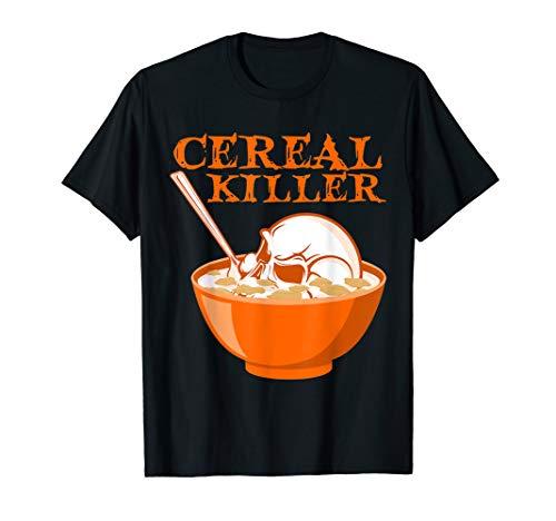 Cereal Killer T-Shirt-Serial Killer Skull Pun Halloween -
