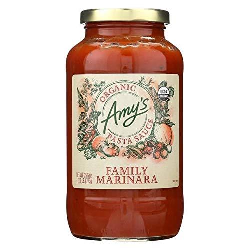 Amy's Pasta Sauce Family Marinara, USDA Organic, Vegan - 25.5 Fl Oz | Pack of 6