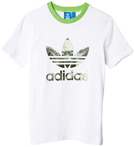adidas Originals Star Wars Yoda Tee, White/Semi Solar Green, X-Large