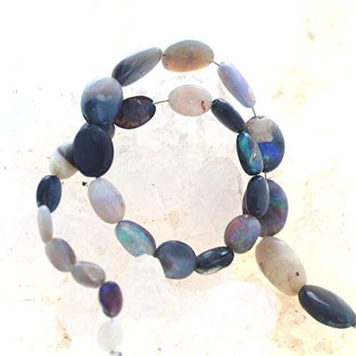 AUSTRALIAN OPAL BEADS Lightning Ridge Oval Free Forms 8