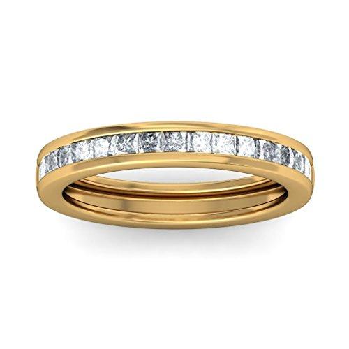 Or jaune 18K, 0,51CT TW Diamant Blanc (IJ | SI) en diamant