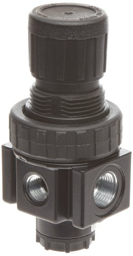 "Parker 05R113AD Regulator, Relieving Type, 2-125 psi Pressure Range, No Gauge, 30 scfm, 1/4"" NPT Review"