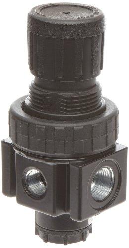 "Parker 05R113AD Regulator, Relieving Type, 2-125 psi Pressure Range, No Gauge, 30 scfm, 1/4"" NPT Review"
