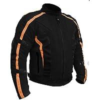 Bikers Gear Australia, Chaqueta de motocicleta, Negro (Black