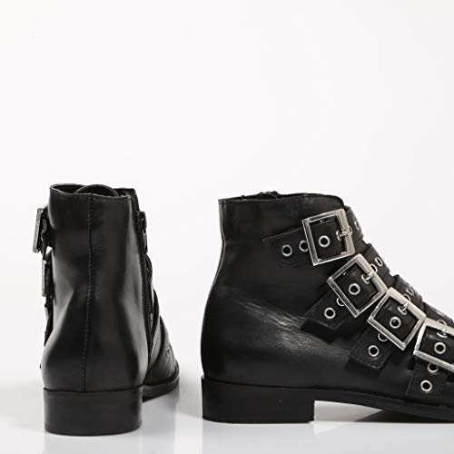 for for with Booties Black Leather Buckles MUSSE amp; Women CLOUD CLOUD CLOUD a6xqw4BR