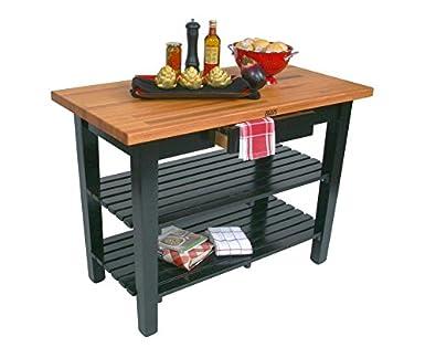 Amazoncom John Boos OC Oak Country Table Blended Butcher Block - Oak butcher block table top
