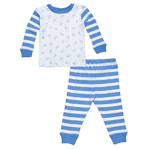 Under The Nile Little People 2-piece Long Johns (Blue) - 12 - Under Pajamas Nile The