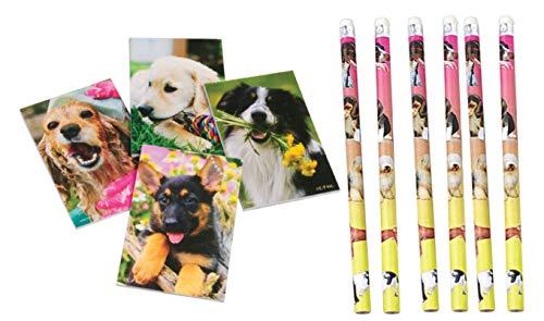 Nikki's Knick Knacks 48 Piece Puppy Dog Notebook and Pencil Set