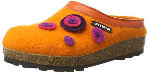 Giesswein Womens Calau Textile Sandals Mandarine