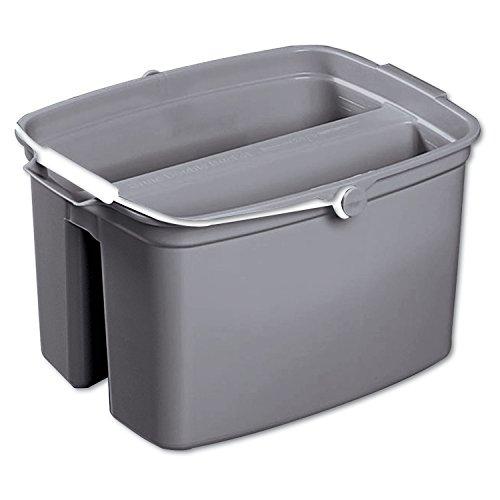 RCP2617GRA - Rubbermaid-Gray Brute Plastic Double Pail Buckets 17 Quart