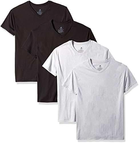Mens Hanes 4 Pack ComfortSoft V-Neck Undershirts - 7765AS