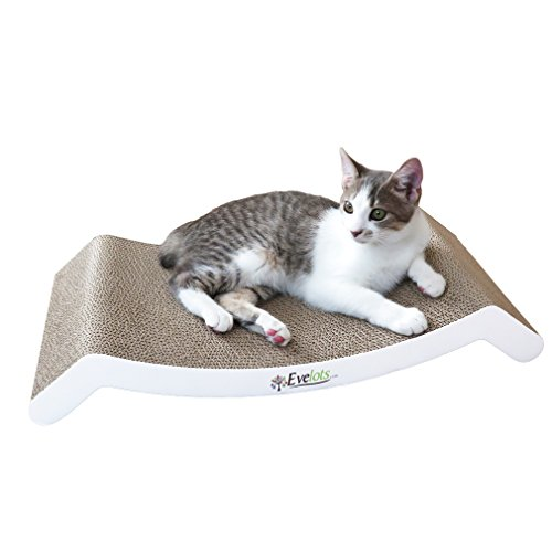 Evelots Reversible Cat Scratcher Kitty Bed,Corrugated Cat Scratching Pad For Sale