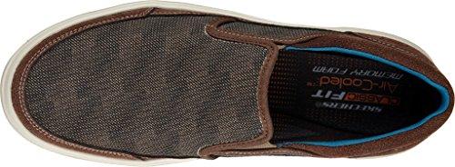 Skechers Usa Mens Porter Compen Slip-On Loafer,Brown,8