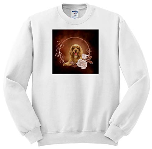 3dRose Heike Köhnen Design Animal - Beautiful Cocker Spaniel - Youth Sweatshirt XS(2-4) (ss_310282_9)