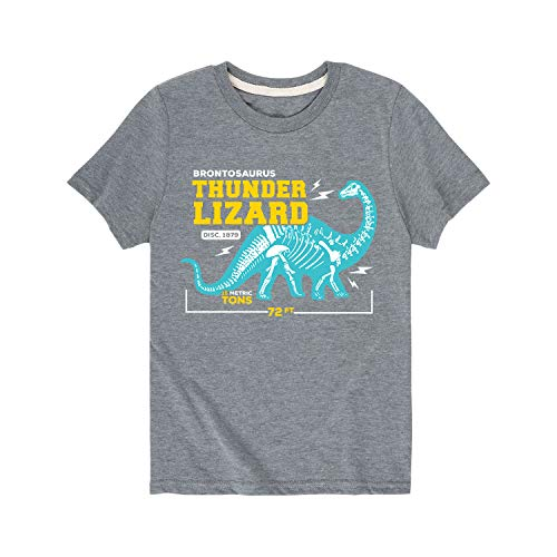 (Instant Message Brontosaurus Thunder Lizard - Toddler Short Sleeve Tee Athletic Heather)