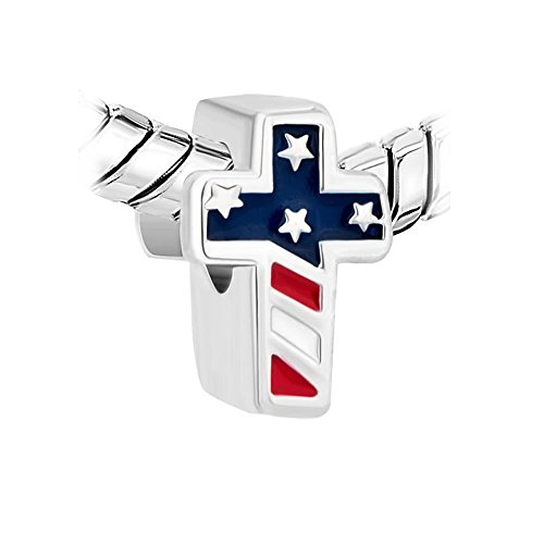 American Flag Cross Religious Charm Jewelry Slides on Charm for - Usa Charms Tiffany