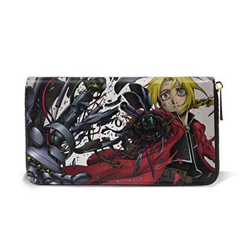 - Ernestine M Davis Fullmetal Alchemist Credit Card Holder Wallets for Man Women Leather Zipper Card Case for Ladies Girls/Gift Box