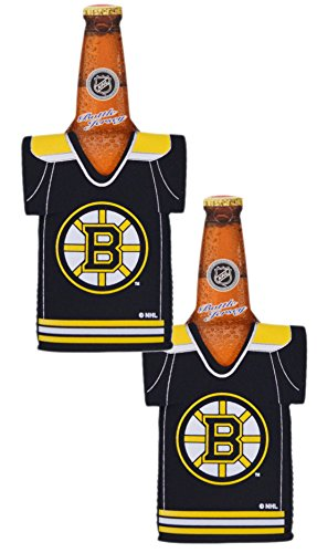 fan products of Official National Hockey League Fan Shop Authentic NHL 2-pack Team Jersey Insulated Bottle Cooler (Boston Bruins)