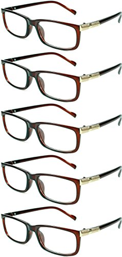 Readers 5 Pack Elegant Womens Mens Reading Glasses - Inexpensive With Sunglasses Readers