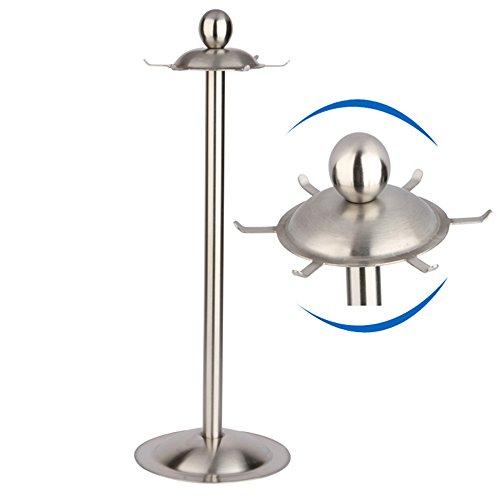 MyLifeUNIT Kitchen Utensil Holder Organizer 360 Degree Rotating Carousel with Six Hooks