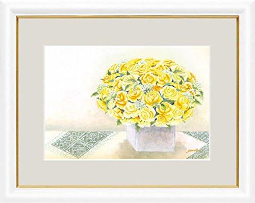 【大】風水絵額-幸せのブーケきらめくイエローローズ/洋美(風水開運力が高い、永遠に枯れることのない花の絵をお部屋に飾る)G4-AB035 B073GBLV14
