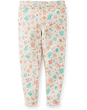 Mini Blues Floral Stretch Jegging