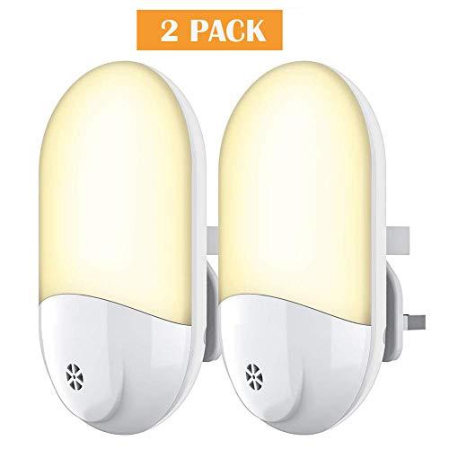YOYOO Plug Night Light, LED Night Light, Plug-and-Play Automatic Wall Light Plug in Wall for Babyroom, Kids, Children,Nurseries, Stair, Hallway, etc.