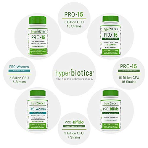 Hyperbiotics PRO-15 Probiotics-60 Daily Time Release Pearls- Digestive Supplement Formula-15x More Survivability Than Capsules-Patented Delivery Technology-Easy to Swallow (2 Pack)