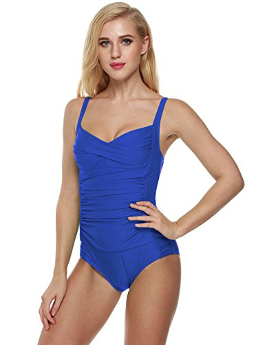 - 41ZPmtsfWhL - PEATAO Women's One Piece Swimsuit, Retro Halter Hawaii Bikini Bathing Suits Monikini Swimwear Beachwear