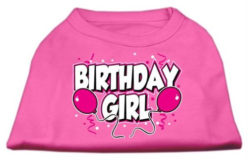 Mirage Pet Products 16-Inch Birthday Girl Screen Print Shirts, X-Large, Bright Pink from Mirage Pet Products