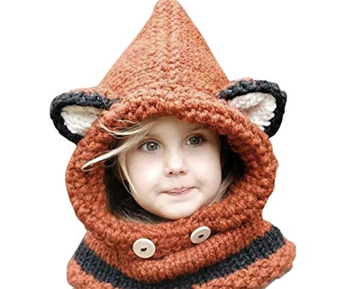 Jennifer + June Baby and Toddler Crochet Hats - Fox Hat (2T -5T) -