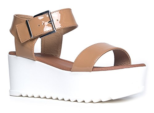 Womens Platform Buckle Sandal Fashion