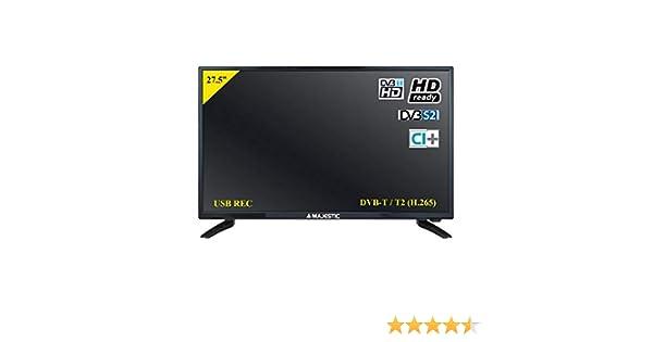 MAJESTIC, televisor TVD-228 S2, monitor para ordenador de 28 pulgadas, TV a LED FULL HD DVB-/T2 DVB-S / S2 HDMI USB PVR ranura CI+ Interfaz ordenador VGA: Amazon.es: Electrónica