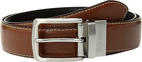 Steve Madden Mens 35mm Casual Reversible Belt Cognac/Black 34 One Size