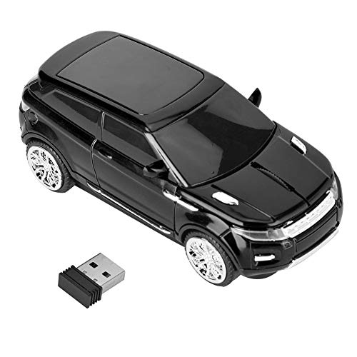 Diyeeni Wireless Optical Mouse 3D for Range Rover Car-Shaped Computer Laptop Mice PC+ Receiver (Black)