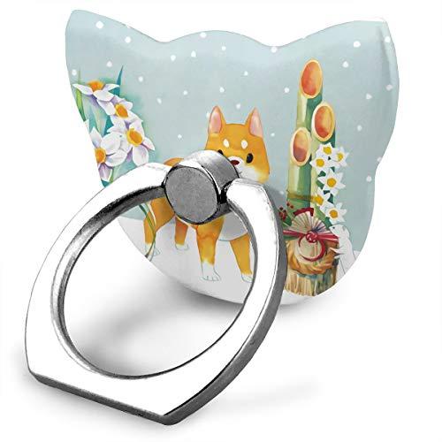 Universal Phone Ring Bracket Holder Cute Baby Fox Finger Grip Stand Holder Ring Car Mount Phone Ring Grip Smartphone Ring Stent Tablet -
