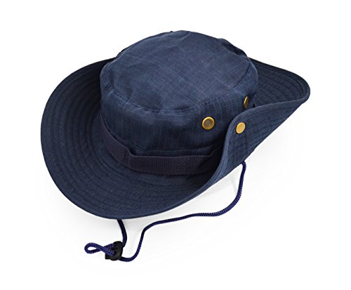 Outdoor Wide Brim Sun Protect Hat, Classic US Combat Army Style Bush Jungle Sun Cap for Fishing Hunting Camping 4