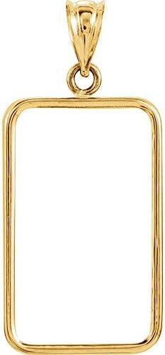 Gelbgold Tab Rückseite Rahmen Anhänger für 5-gram Credit Suisse Medaille Modell 9yxxeg3