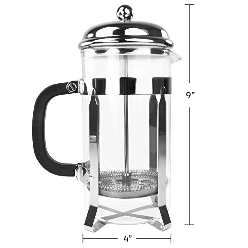 simple chef stainless steel french press best coffee pot press tea maker ebay. Black Bedroom Furniture Sets. Home Design Ideas