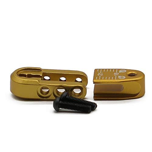 RCAWD 16-21mm 24T Teeth Steering Half Servo Arm(Hitec) N10305 Aluminum Alloy Length Adjustable for 1/8 1/10 RC Hobby Model Car(Yellow)