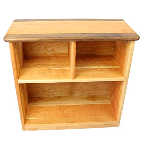 Camden Rose Simple Bookcase, Cherry with Walnut Accents, Two - Camden Accent