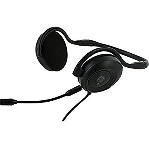 GE Universal All-in-one Foldable VoiP Stereo PC Computer Headset - Headphones with Detachable Microphone, Black, 38901-1 (Non-Retail Packaging) Ge Voip Stereo