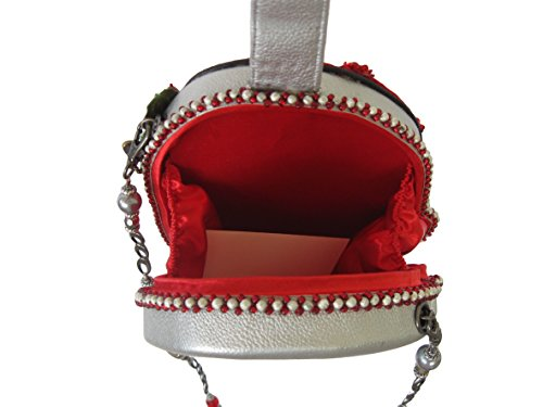 Mary Hand Bejeweled Ho Bag Holiday Santa Beaded Frances Ho Shoulder Handbag Ho Christmas rYTxrIw