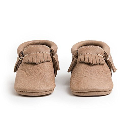 Freshly Picked Soft Sole Leather Baby Moccasins - Weathered Brown - Size 6