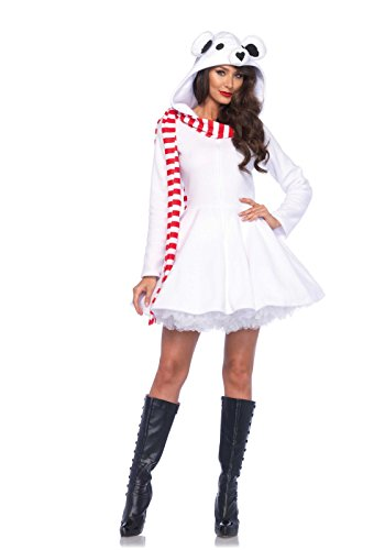 Leg Avenue Women's Cozy Polar Bear, White, Small (Sexy Polar Bear Costume)